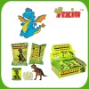 Press candy with dinosaurs playing card
