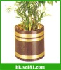 wood steel flower-pot cover