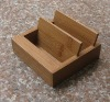 Bamboo business card&cell phone holder