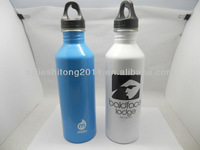 metal sport water bottle with paint and logo print