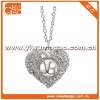 Crystal Heart Necklace Fashion Jewlery