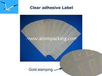 Gold stamping adhesive label