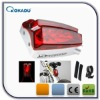 7 led bicycle light set with laser