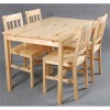 New style pine wood dining table and dining chair