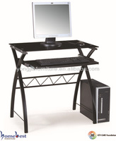 Metal frame computer table