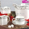 2012 new design-Eco Ceramic Fine Bone China Coffe sets 15pcs