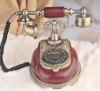 antique resin,man-made wood telephone set