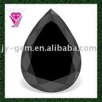 AAA Wholesale Pear Shape Black Agate Gems
