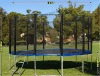 cheap 16ft spring trampoline with safety enclosure