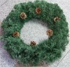 30cm artificial green wholesale wreath making supplies