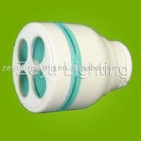 PBT cfl plastic housing for 2U shape energy saving lamp