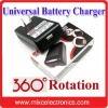 High Quality 360 degree rotation Universal Battery Charger for all kinds of mobile phone