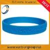 Custom logo embossed silicone bracelet