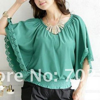 2013 plus size batwing korean women clothing fashion