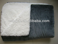 polyester lamb fleece blanket