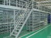 Multi-tier metal storage mezzanine floor rack