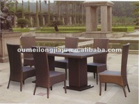 Rattan meeting table with chairs