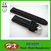 Black Silicone Rubber watch band strap