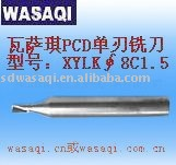 PCD Single flute end milling cutter