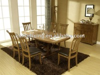 7PC Rubber Wood Dining Room Furniture