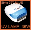 Color Blue 36W UV Lamp for Nail Polish Dryer
