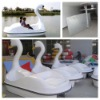 2 Seats fiberglass pedal boat Swan pedal boat