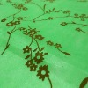 Green Floral and Leaf Flocking on non-woven fabric for industry