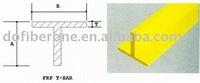 Fiberglass pultrusion T-bar, FRP Tbar