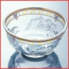 Golden edge bowl glass cup