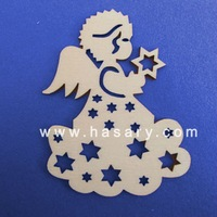 xmas decoration wood laser cut christmas ornament