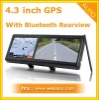 4.3 Inch touch screen Car GPS Navigation with Bluetooth Rearview Mirror
