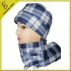 polar fleece cap and scarf
