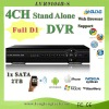 full d1 4 channel high quality DVR(9104B-S)