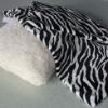 100 Polyester Zebra Print Flannel Pillow Shell
