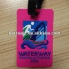 Soft Waterway PVC luggage tag for promotion