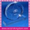 Round engraved acrylic award