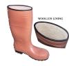 warm lining PVC/Nitril Rubber rain Boot