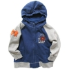 [LEAP]boy's basice fleece hoodies style with full zipper opening in front(child garment,kid wear)