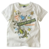 [LEAP]  printing and   full short sleeve T-shirt( garment, wear)