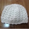 knitted hat by hand