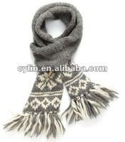 2012 Fashion Jaquard Wool Knitted Scarf