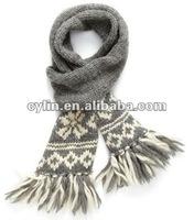 2012 Fashion Jaquard Wool Knitted Scarf