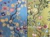 silk rayon blend jacquard upholstery fabric with metallic yarn
