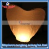 White Paper Lanterns Wedding - Heart Shaped Paper Sky Lantern White