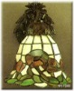 2011 new flower pattern tiffany night light in wall