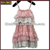 2013 wholesale fashion design pink hot birthday girl dress