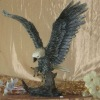 Resin Gray/Bronze Eagle Sculptures