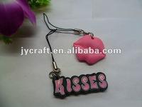 soft rubber keychain-kiss,lips JY-SR005