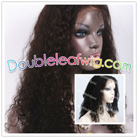 Free shipping in stock human hair afro curl full lace wig