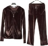 ladies polyester velour jogging suit